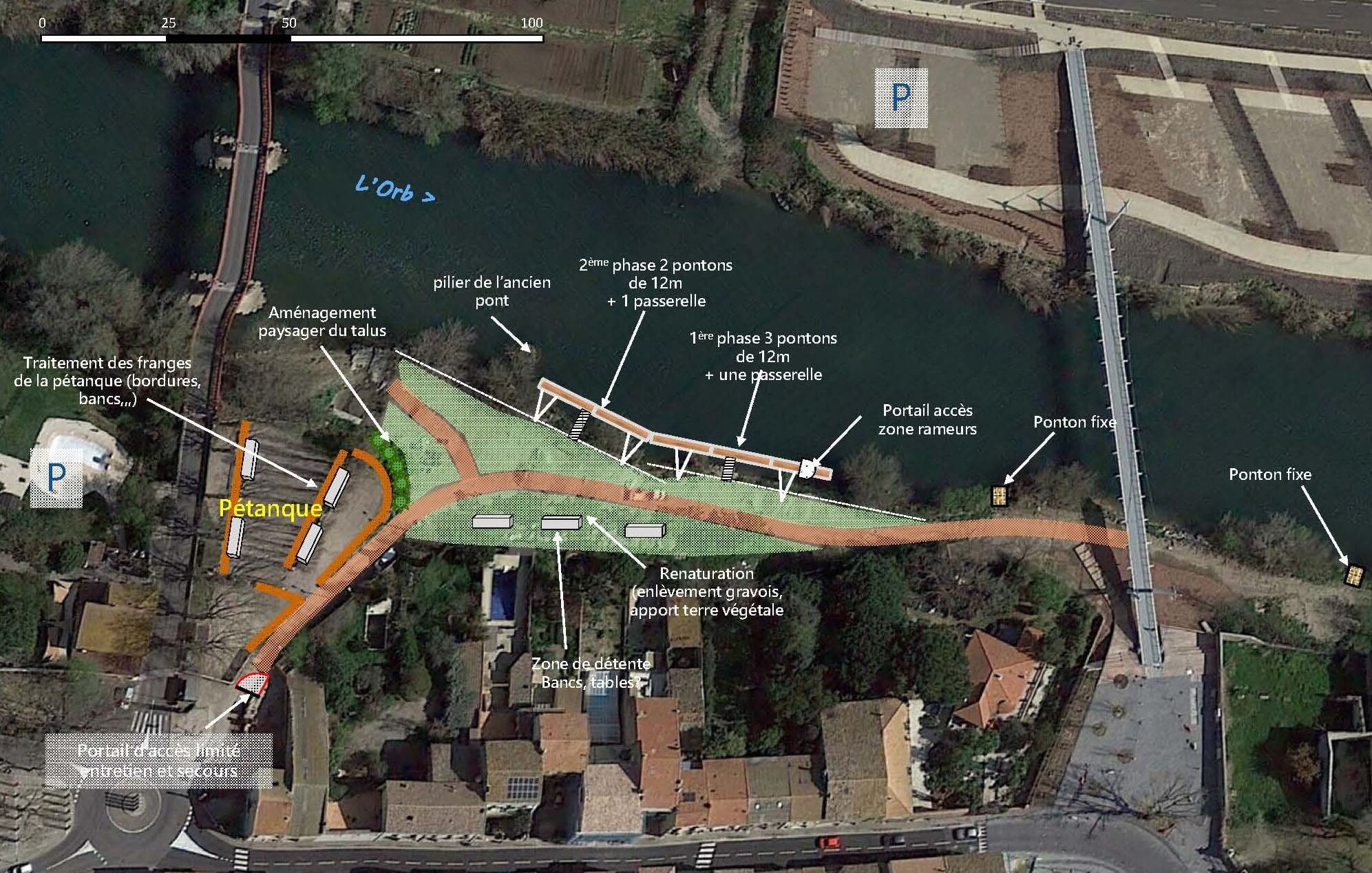 BEI Infrastructures | Bureau d'Études à Béziers | Accueil - Appontement proposition d'aménagement